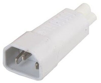 3 Pin IEC Socket C14 to Cloverleaf Plug C5 Adapter White