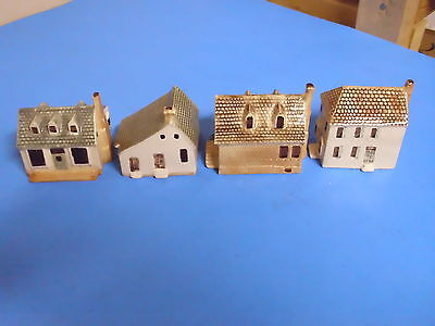 Lot Of 4 Small Ceramic Houses Made In England