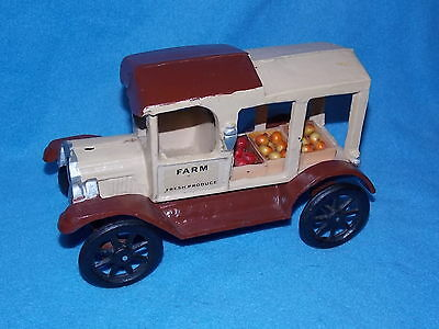 Cast Iron Farm Produce Delivery Truck & Crates of Produce