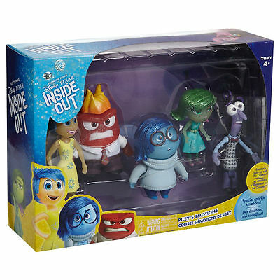 Tomy Inside Out Riley's Emotions 5 Figure Pack Sparkle Rare Play Set Disney Toy