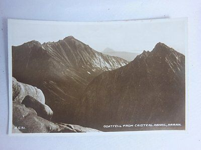Vintage RP Postcard,Goatfell from Caisteal Abhail,Isle of Arran,Valentines