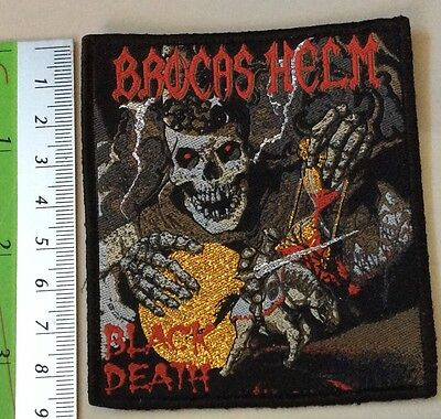 BROCAS HELM WOVEN Patch priest maiden heavy load manowar sortilage motorhead rar