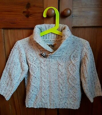 M&S Autograph Knitted boy cardigan 12-18 mths