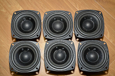 """Pair of 4 1/2"""" long throw bass unit woofers. Replace centre/surround speakers"""
