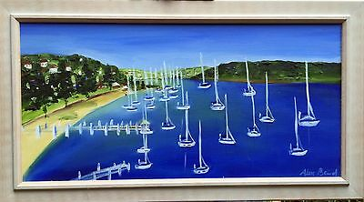 """""""Pittwater""""  by Alex Baird oil on canvas painting- framed"""