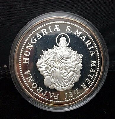 Hungary 1986 5 uncia, 5 ounces Silver Medallion Madonna and Child