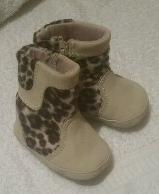 BNWOT 0-3months Baby girls leopard print boots