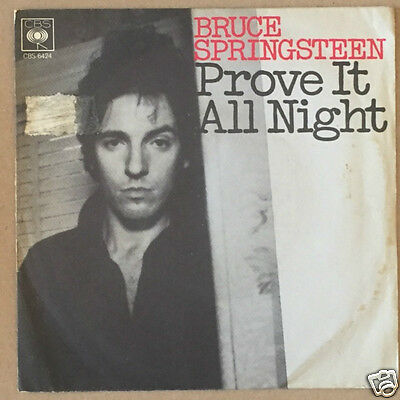 """Bruce Springsteen - Prove it all night/Factory  7"""" Italy"""