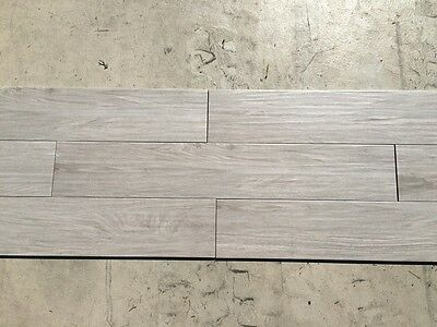 Light Grey Ash Timber Look Wood Feel Texture Porcelain Floor Wall Tile 150x900mm