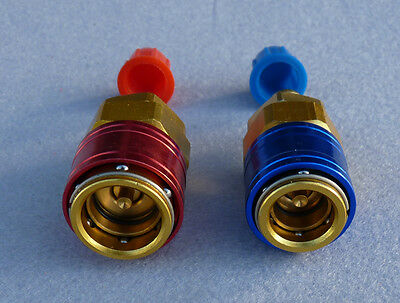 Heli Guy High Low Set 2 Connectors R12 R134A Auto Car Air Conditioning Coupler