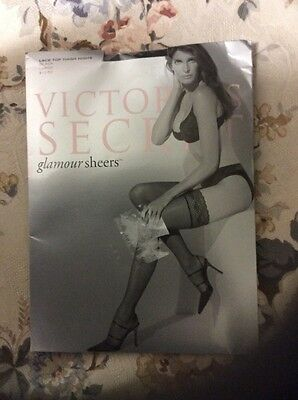 Victoria's Secret Lace Top Thigh Highs Stay-up Stockings Black Large New PRIVATE