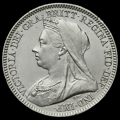 1893 Queen Victoria Veiled Head Silver Sixpence – G/EF