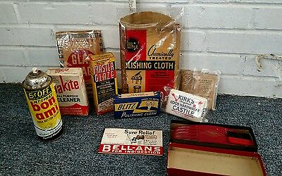Lot of 10 vintage cleaning products