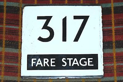 London Transport Country Area E-Plate : Route 317 Fare Stage ... Rare