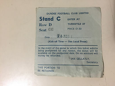 Dundee Fc 1978 Scotland  Authentic Ticket Stubs !