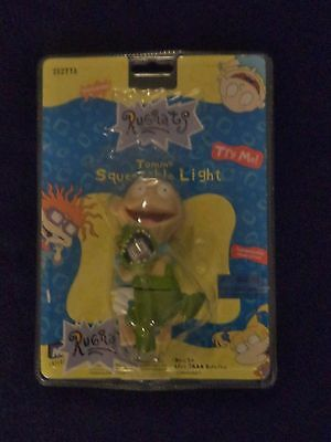 Factory Sealed Nickelodeon Rugrats Tommy & Reptar Squeezeable Light Keychain