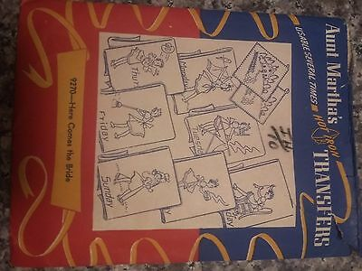 Vintage Aunt Martha's Hot Iron Transfers #9270
