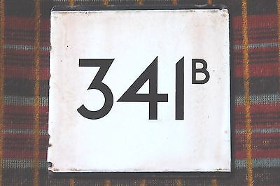 London Transport Country Area Bus Stop E-Plate : Route 341B. St. Albans