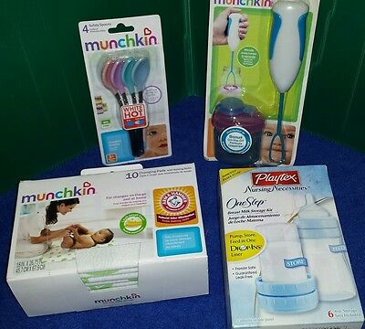 Lot of Munchkin Playtex One Step storage Kit, Changing pads, Safety Spoons, ETC.