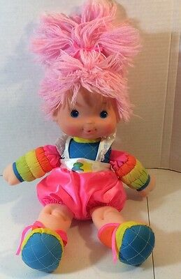 "1983 TICKLED PINK Rainbow Brite Baby 15"" Doll Vinyl Plush Vintage Hallmark"