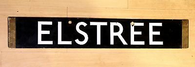 ELSTREE / SPECIAL ENAMEL UNDERGROUND TUBE Double Sided DESTINATION BOARD c.1926