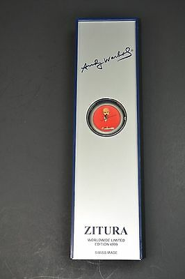 RARE ZITURA Wrist Watch ANDY WARHOL Ltd EDITION Dial Art Work RED LENIN