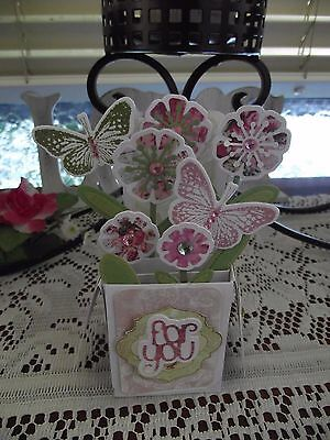 Handmade Card For You Any Occassion  3D Box Card Pop Up