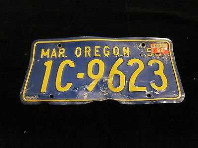 Vintage 1956 Oregon License Plate  Very Nice Condition!