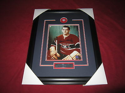 Maurice Richard Signed Montreal Canadiens AUTOGRAPHED framed 8 X 10 COA #2
