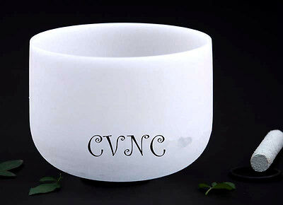 Note C Root Chakra Frosted Quartz Crystal Singing Bowl 10""
