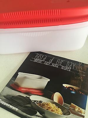 Tupperware Microwave Pasta Cooker And Recipe Book