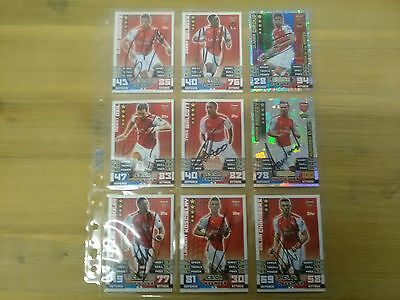 Signed Arsenal FC( Hand Signed MA Card Collection).