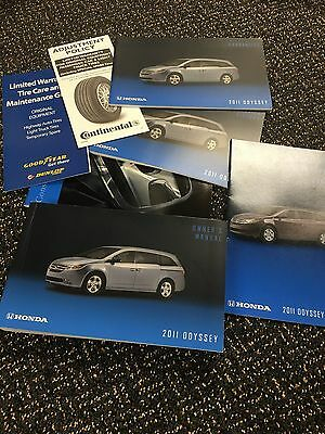 2011 Honda Odyssey Owners Manual Set With Case + Free Shipping