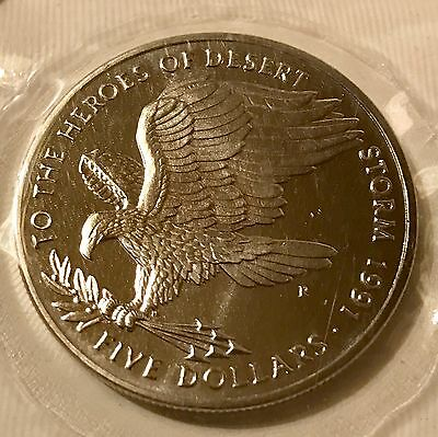 Marshall Islands 5 Dollars, 1991, To the Heroes of Desert Storm
