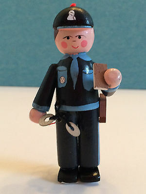 "NWT Policeman Wooden Handpainted Ornament-Midwest Importers-3.25""  Lot of 8"