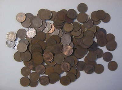 150 Bronze Coin Lot JAPAN Unsearched Unsorted 10 Yen Coins