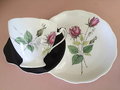 Vintage Roslyn Tea Cup And Tennis Style Saucer. Interlude. English