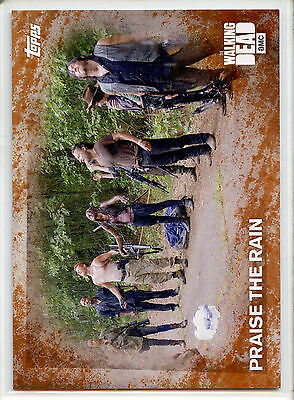 2016 Topps Walking Dead #60 Praise The Rain Rust 36/99