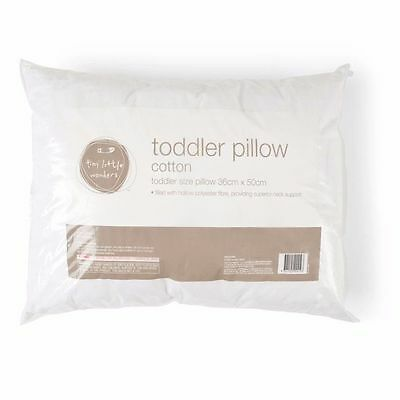 Children Toddlers Kids White Cot Pillow 50cmx36cm Recommended 12 Months and Over