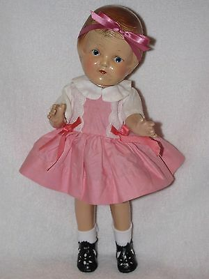 "12"" Vintage Composition (R&B) Arranbee Patsy Doll Dressed In Pink"