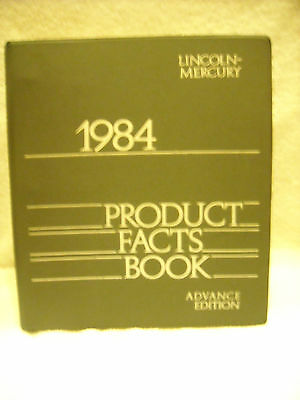 1984 Lincoln Mercury Advance Edition Product Facts Book