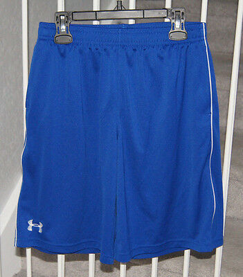 Under Armour Boy's Shorts Size YL Youth L Large Royal Blue EUC
