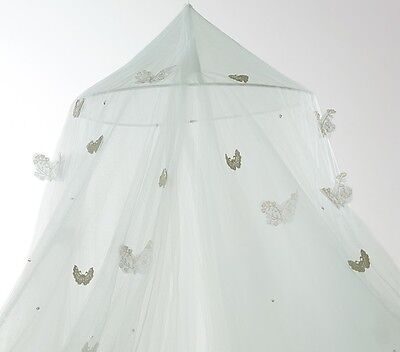 NWT Pottery Barn Kids Monique Lhuillier Seafoam Butterfly Canopy green