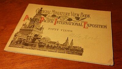 Pan Pacific International Exposition Miniature View Book - 1915