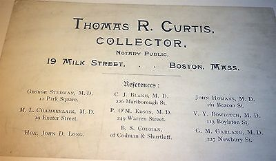 Antique Victorian American Occupational Loan Collector, Business / Trade Card!