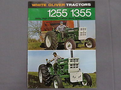 original 1970 Oliver 1255 1355 Tractor sales Brochure Catalog 12 pages nice!