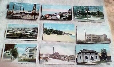 Lot of 9 vintage colorized cards, Ludington Michigan, unposted