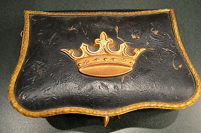 Antique Late 18Th Early 19Th Century French Or Italian Ammo Pouch Leather /brass