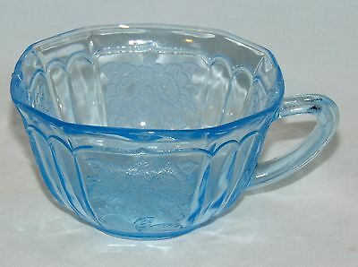 Anchor Hocking MAYFAIR/OPEN ROSE BLUE *CUP*