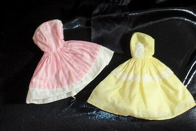 Vintage Brown Hair American Character Tressy Doll Dress Lot Surprise Party